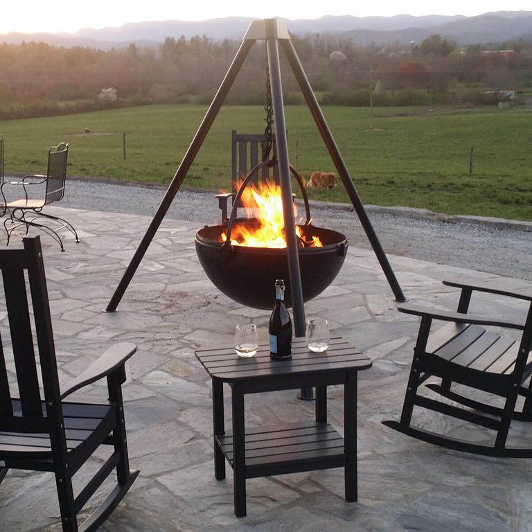 Patio design with a Cowboy Cauldron