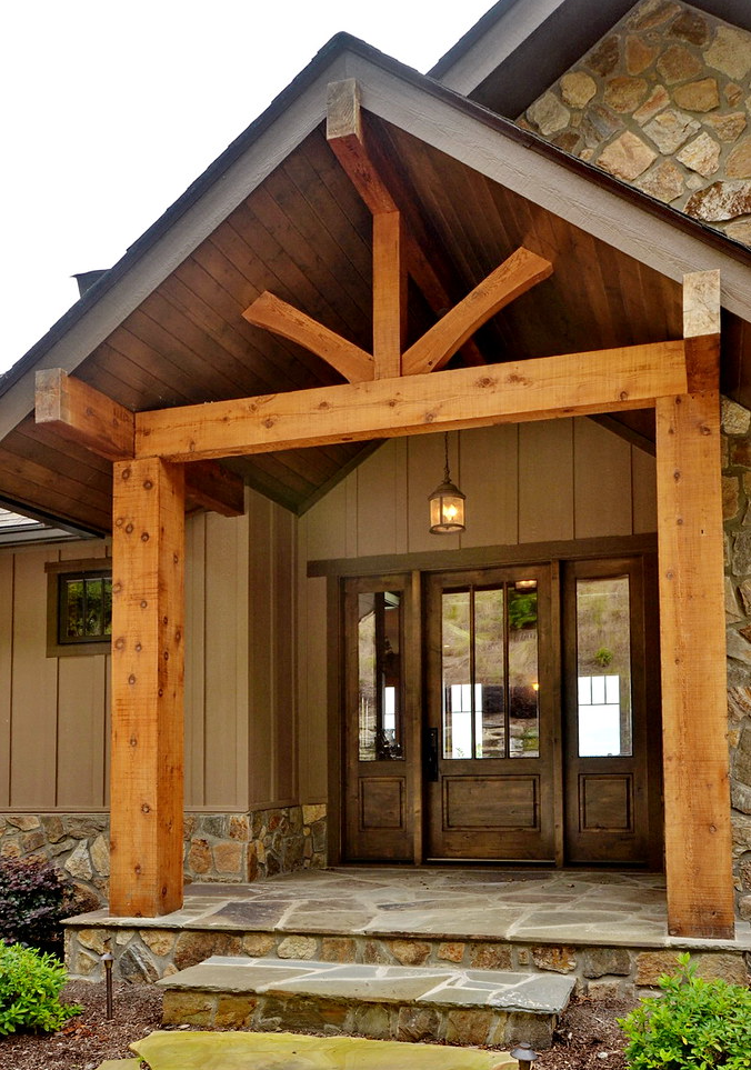 Roof Addition - front porch design ideas