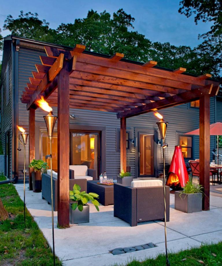 Shining Pergola patio design