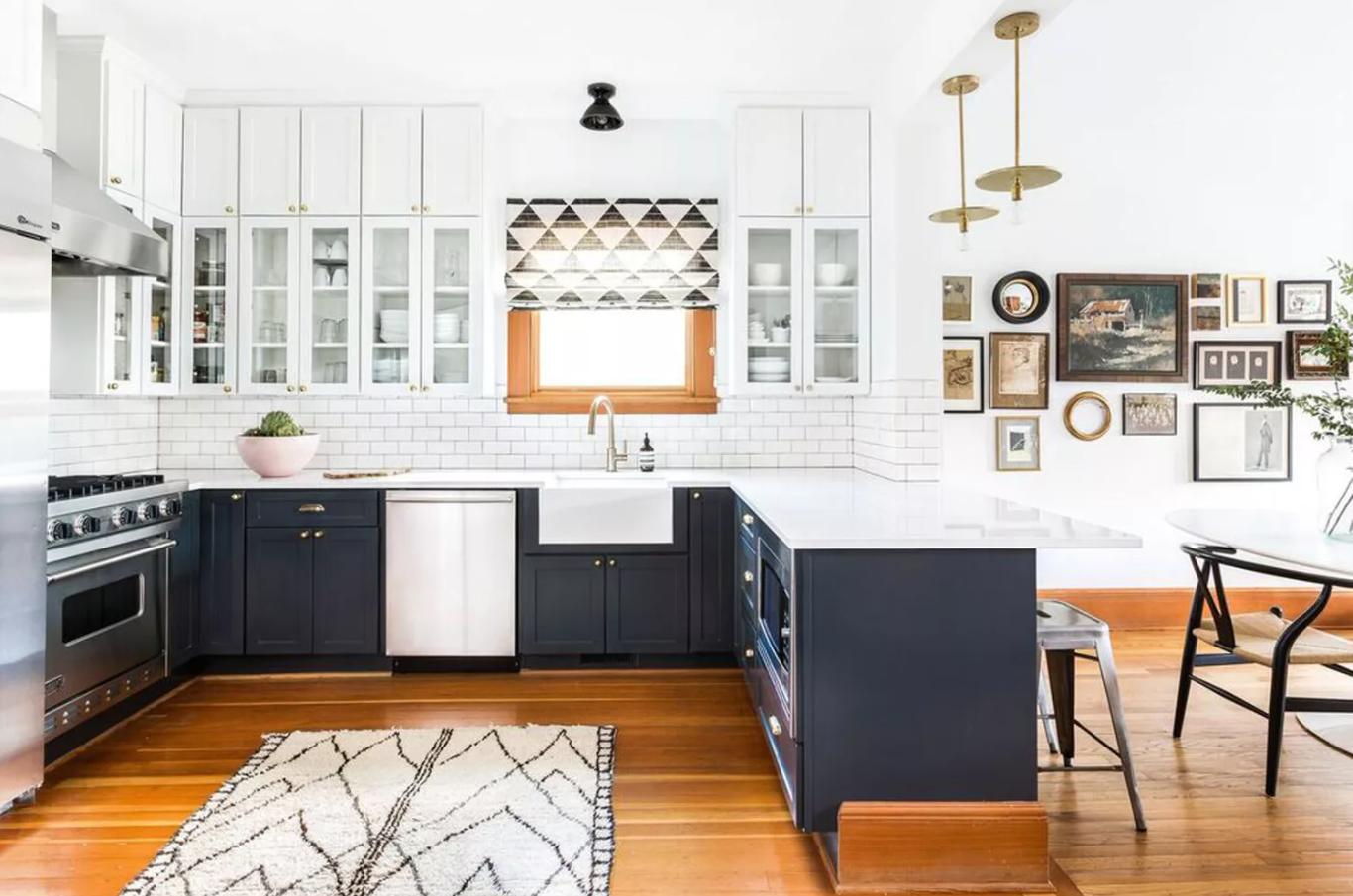 U shaped modern kitchen design ideas