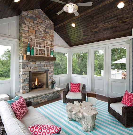 accentuate colors front porch decorating ideas