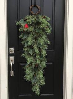 pine wreaths front porch decorating ideas