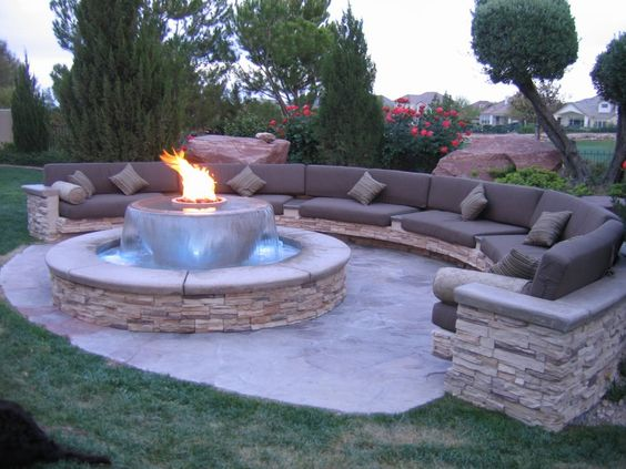 water features front porch decorating ideas