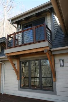 balcony overhang front porch decorating ideas