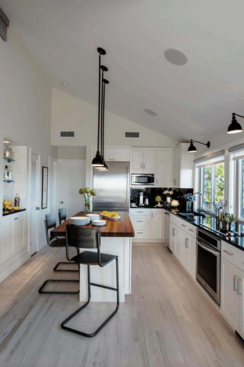 bar design with white cabinet kitchen design