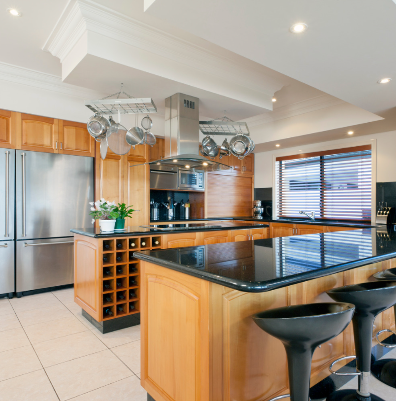 bar style kitchen