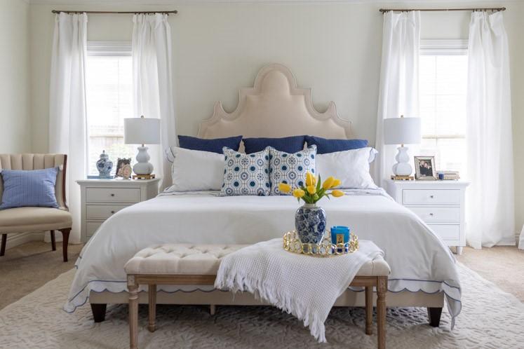 color palette for bedroom spring decor