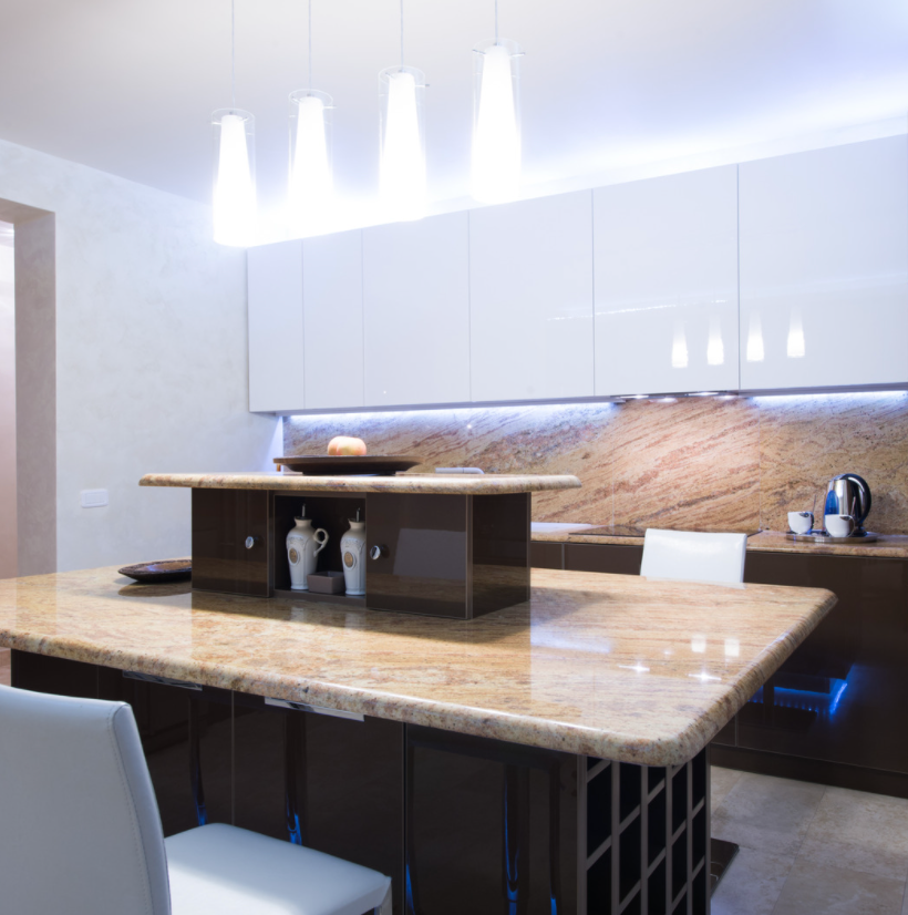 double layer kitchen island