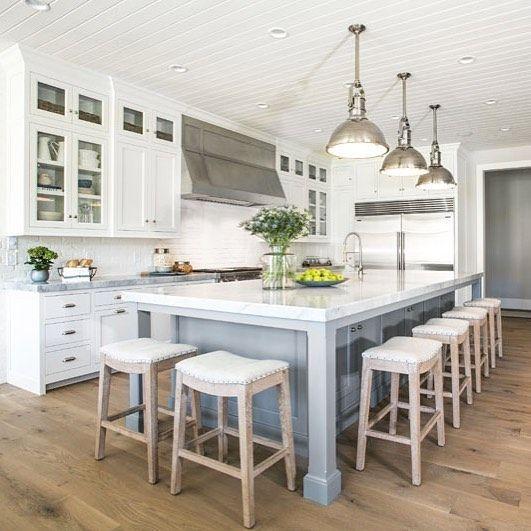 extra long kitchen design