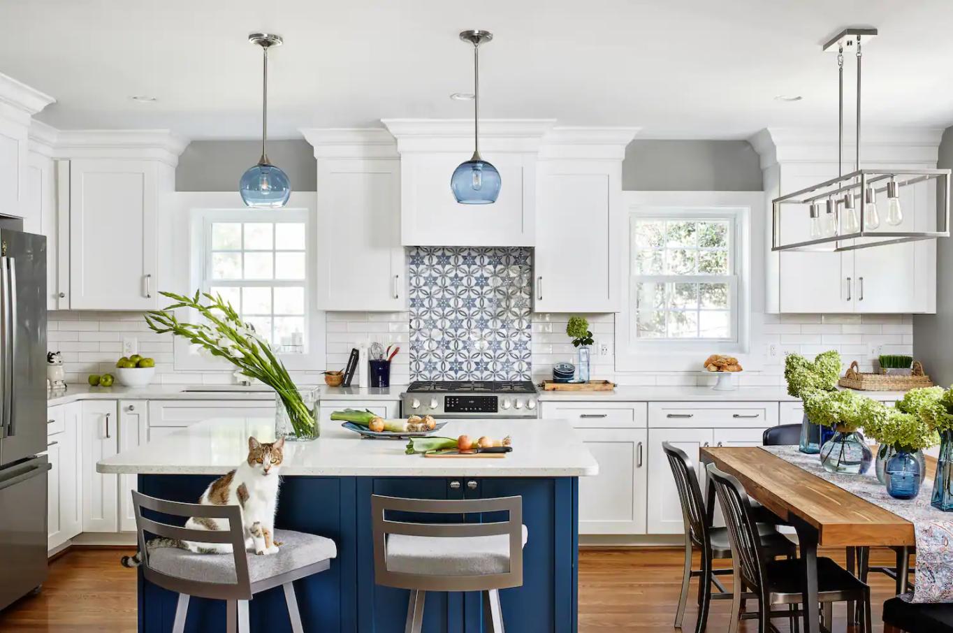 farmhouse design with woodland kitchen
