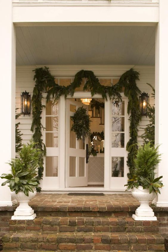 frame the door with plants front porch decorating ideas