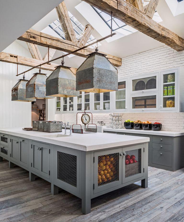 hamptons large kitchen design