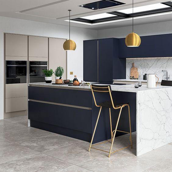 handless kitchen island design