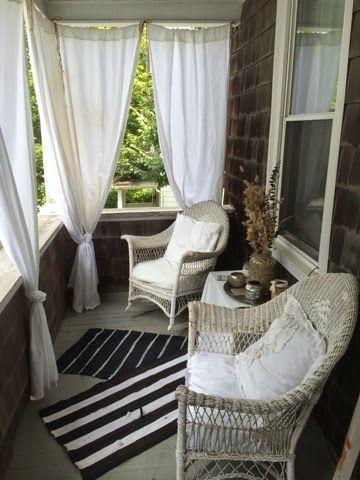 curtains front porch decorating ideas