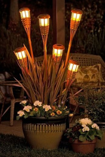 incorporate tiki torch front porch decorating ideas