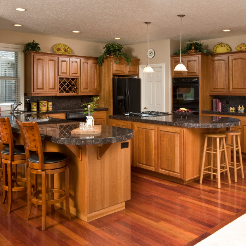 kitchen design with double island