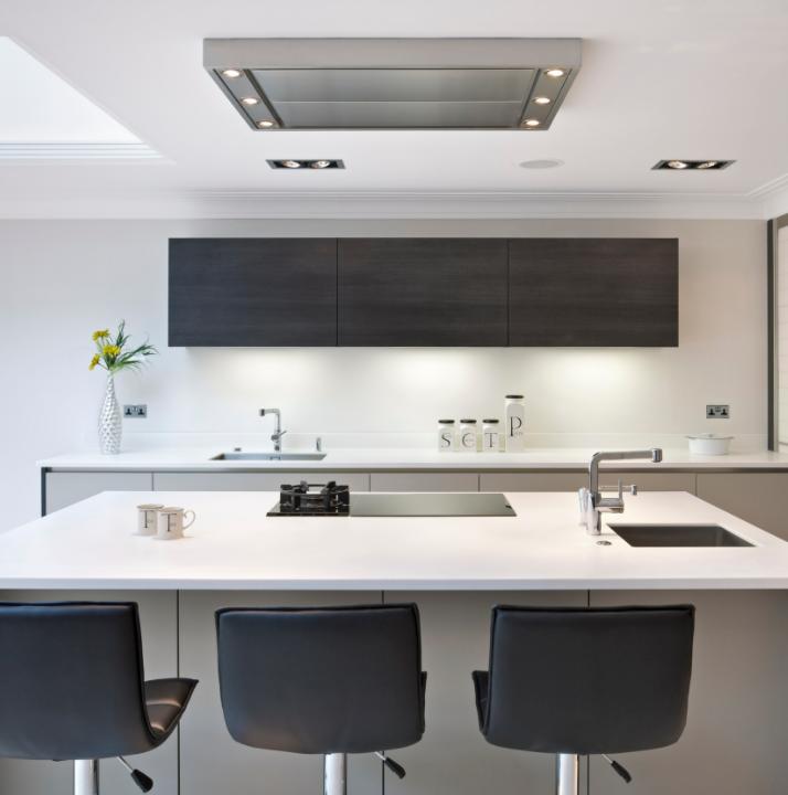 kitchen design with light enhancing