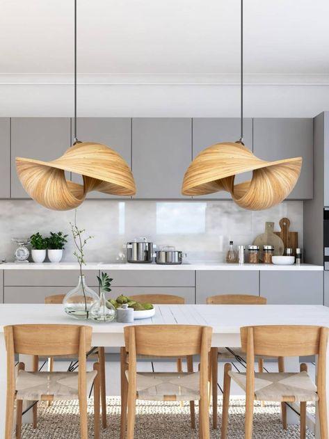 kitchen design with pendant light