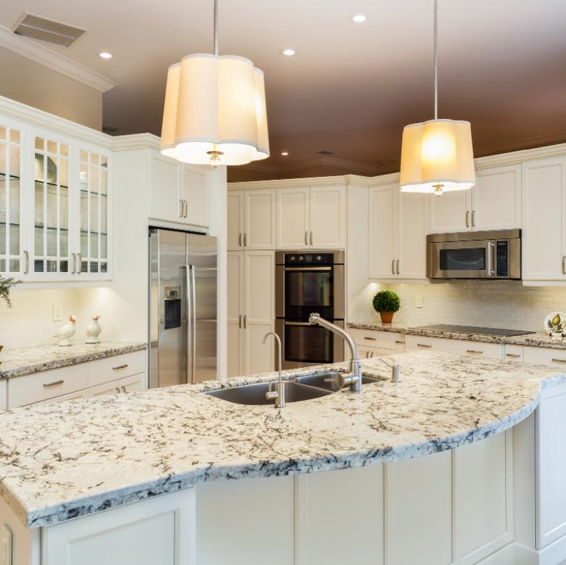 kitchen design with rectangular shape