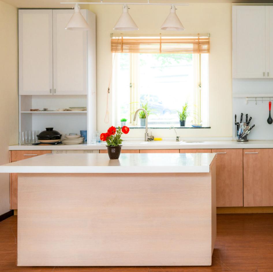 kitchen island in a small kitchen