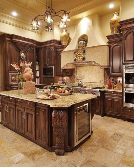 large sized traditional kitchen design