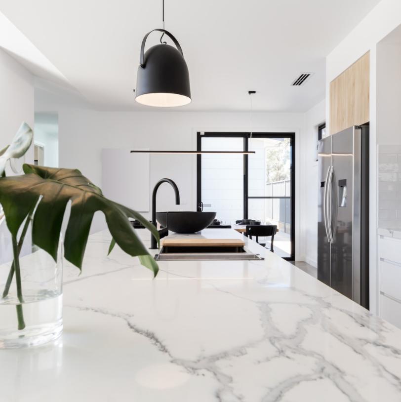 marble countertop kitchen design