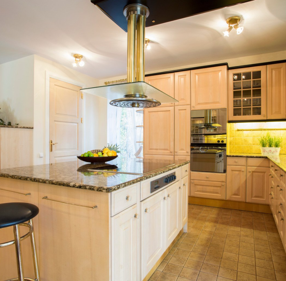 marble countertop with cabinets kitchen island