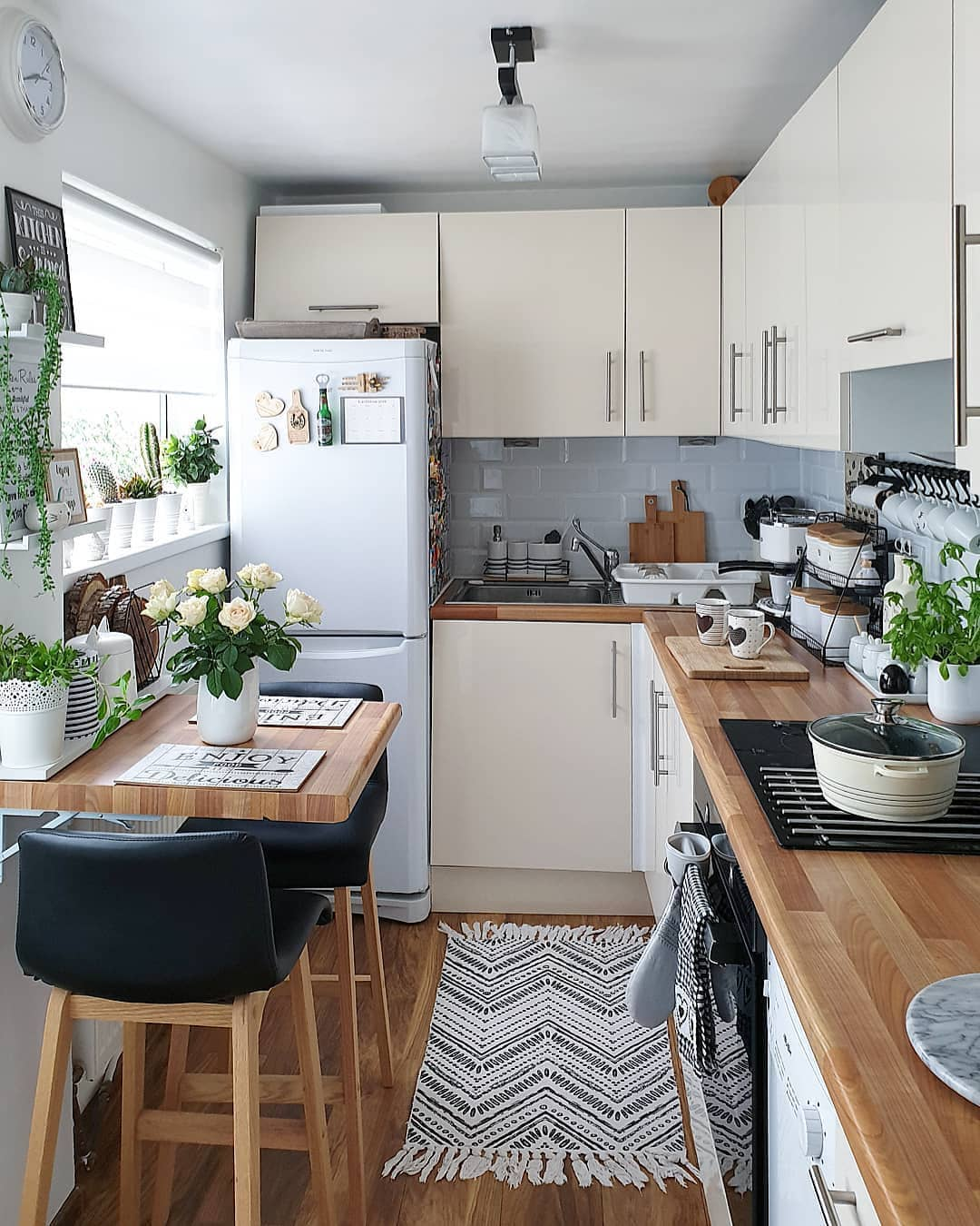matching kitchen cabinet shelves and flooring
