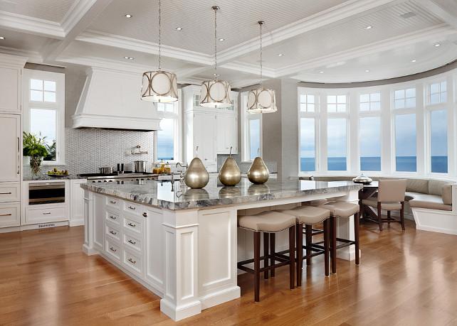 modern kitchen design with coastal interiors