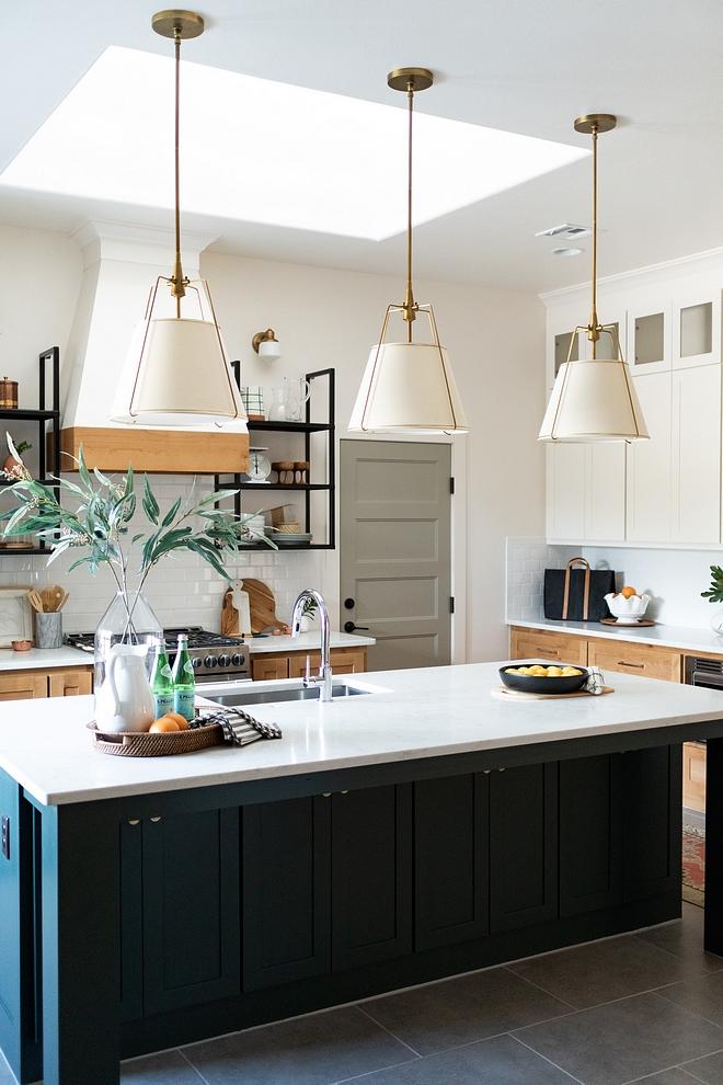 modern kitchen design with pendant lights