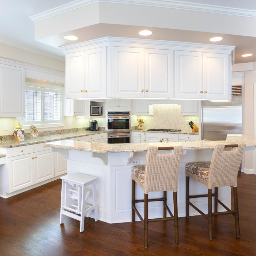 modern mid sized kitchen island