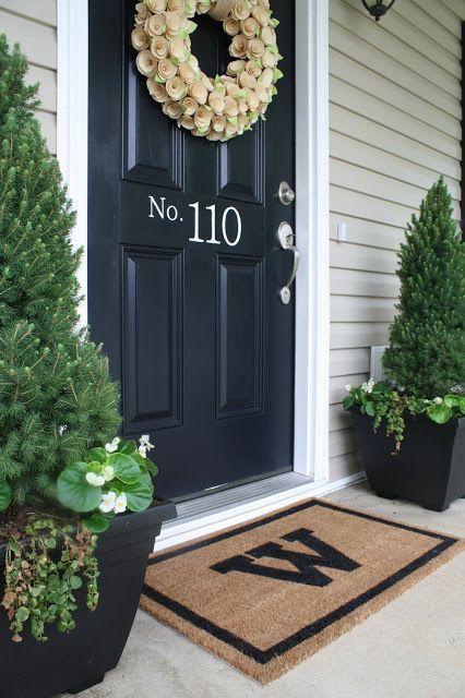 paint the door front porch decorating ideas