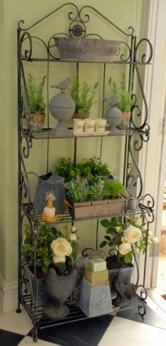rolling cart collage front porch decorating ideas