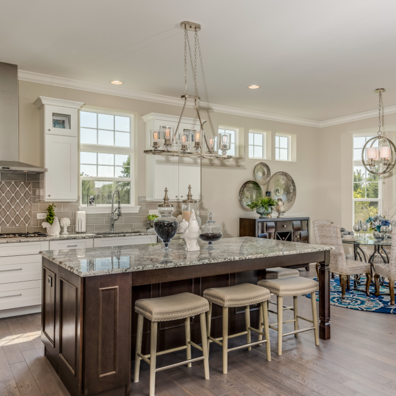 seating areas in kitchen island