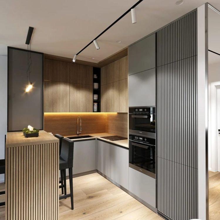 small sized L shaped kitchen design