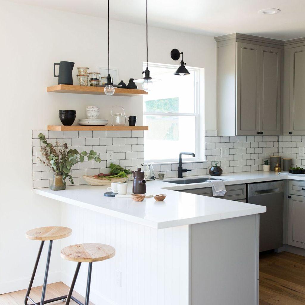 small sized U shaped kitchen design