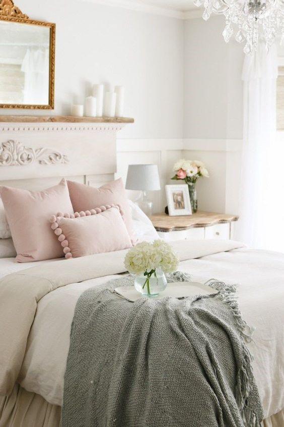 spring decor in the bedroom