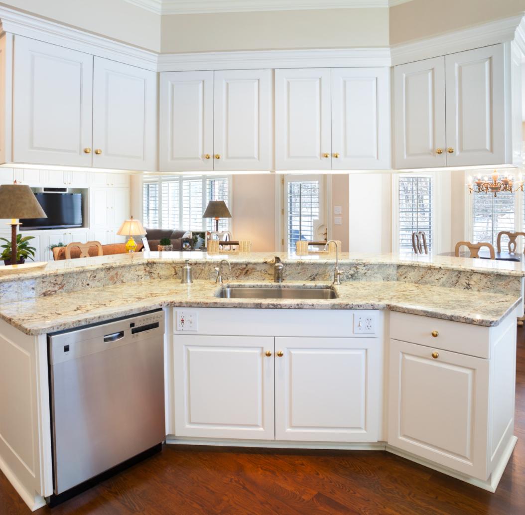 traditional rectangular shape kitchen