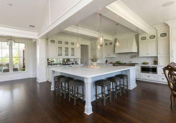 trendy kitchen island