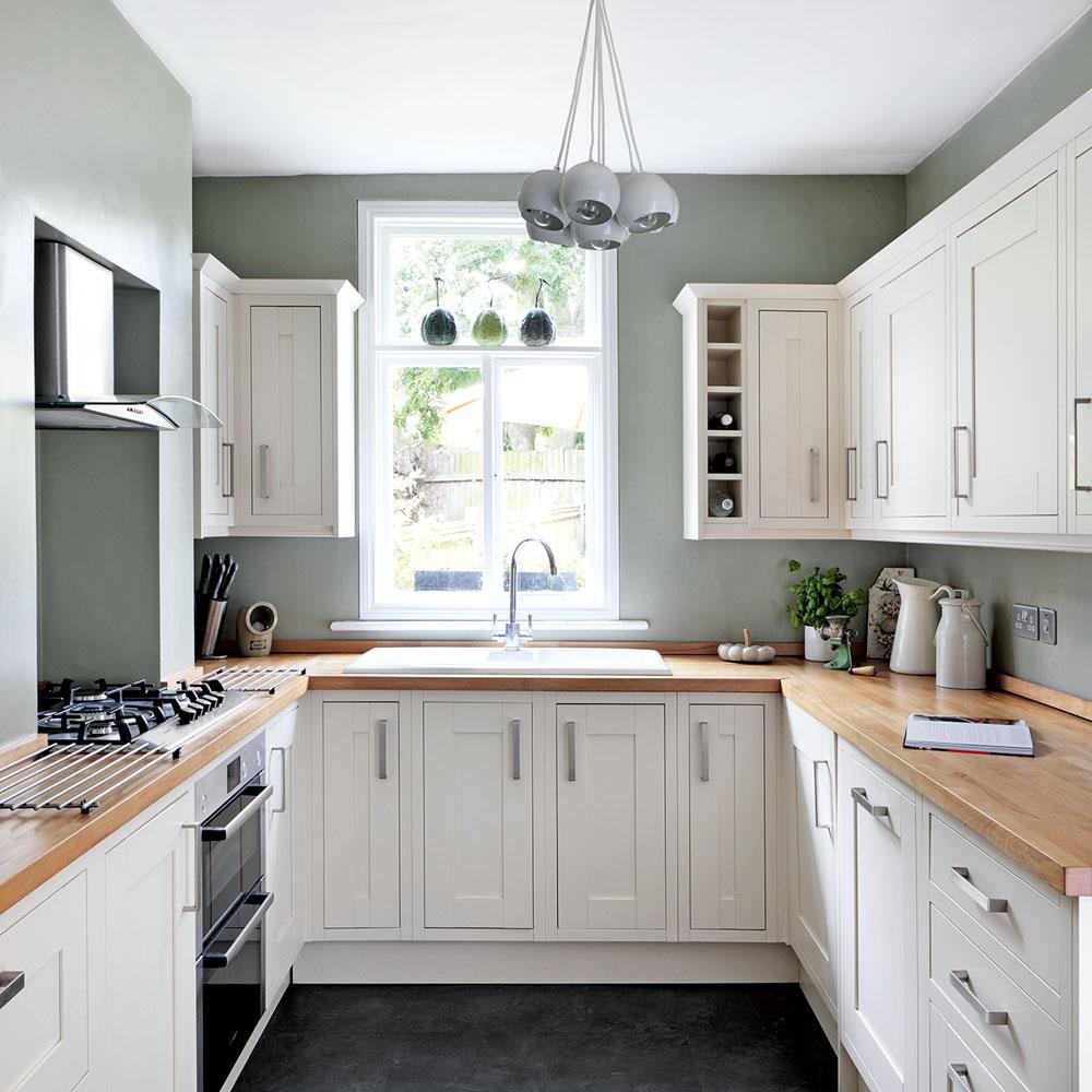 typical U shaped small kitchen design