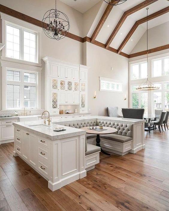 ultra modern white kitchen design