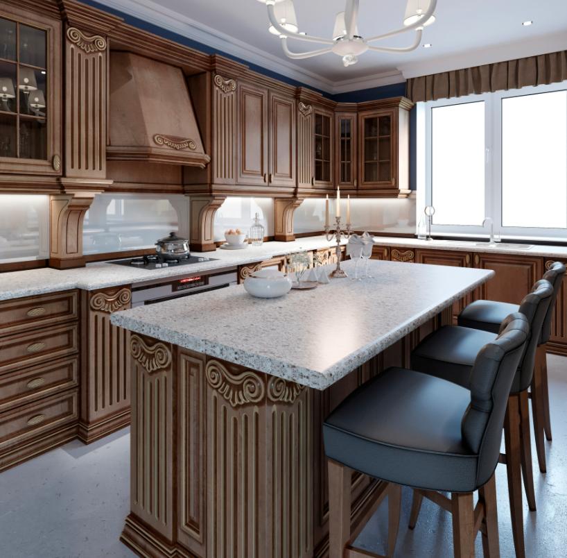 walnut cabinetly kitchen design
