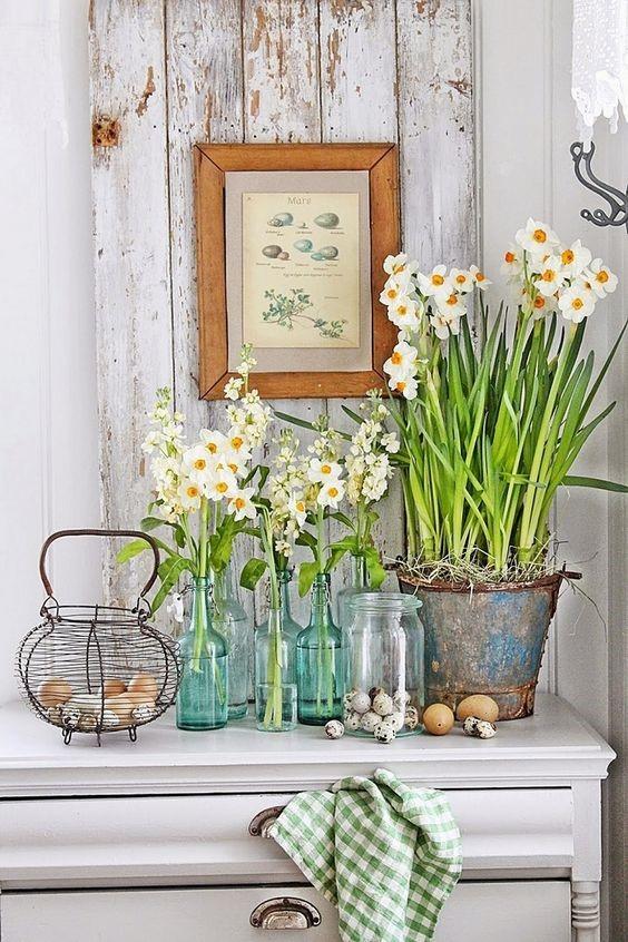 white flowers for kitchen spring decor
