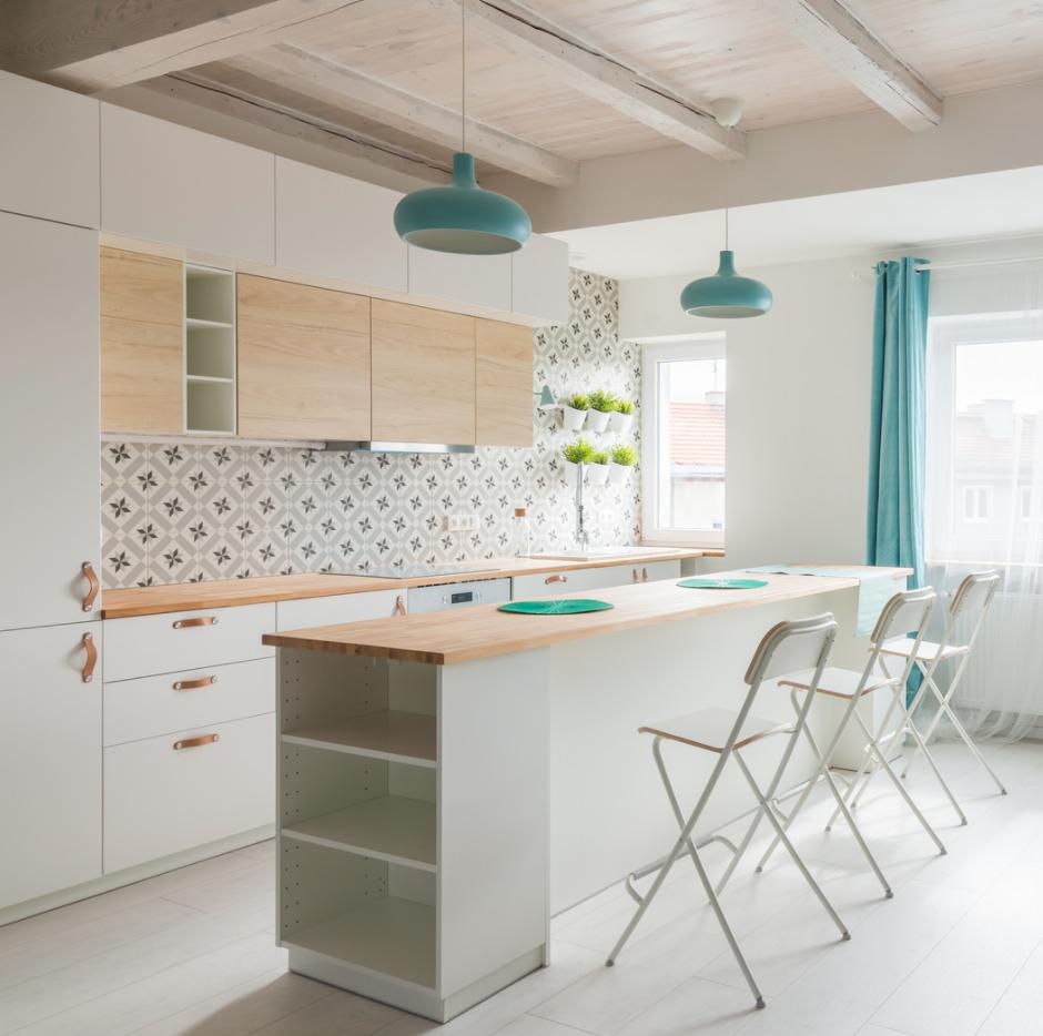 white kitchen island design