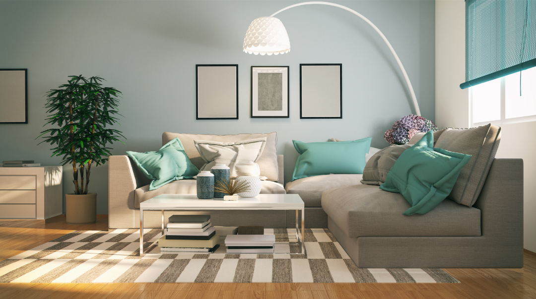 Add comfort with throw pillows