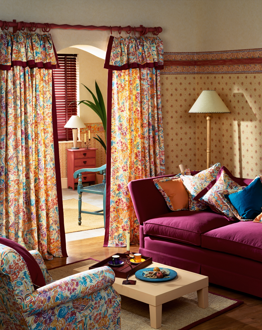 Curtains with Archive Fabric Prints