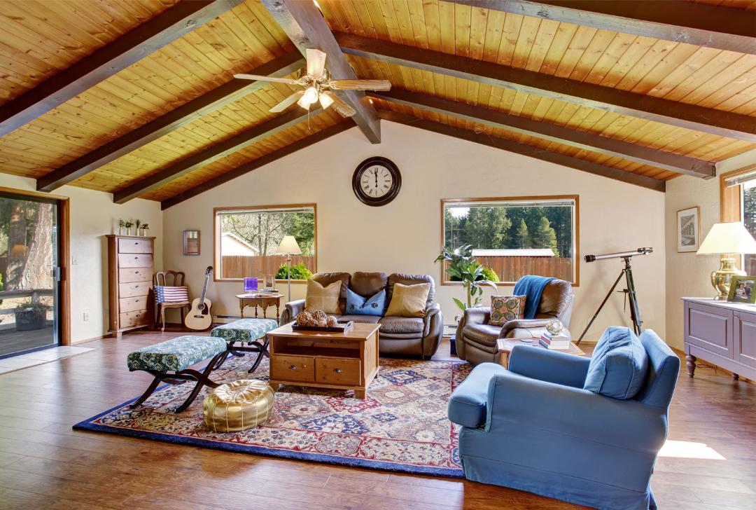 Timeless farmhouse living room design