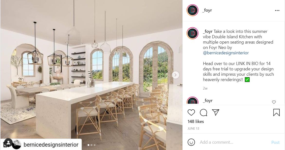 instagram marketing Use slider images for improved detailing
