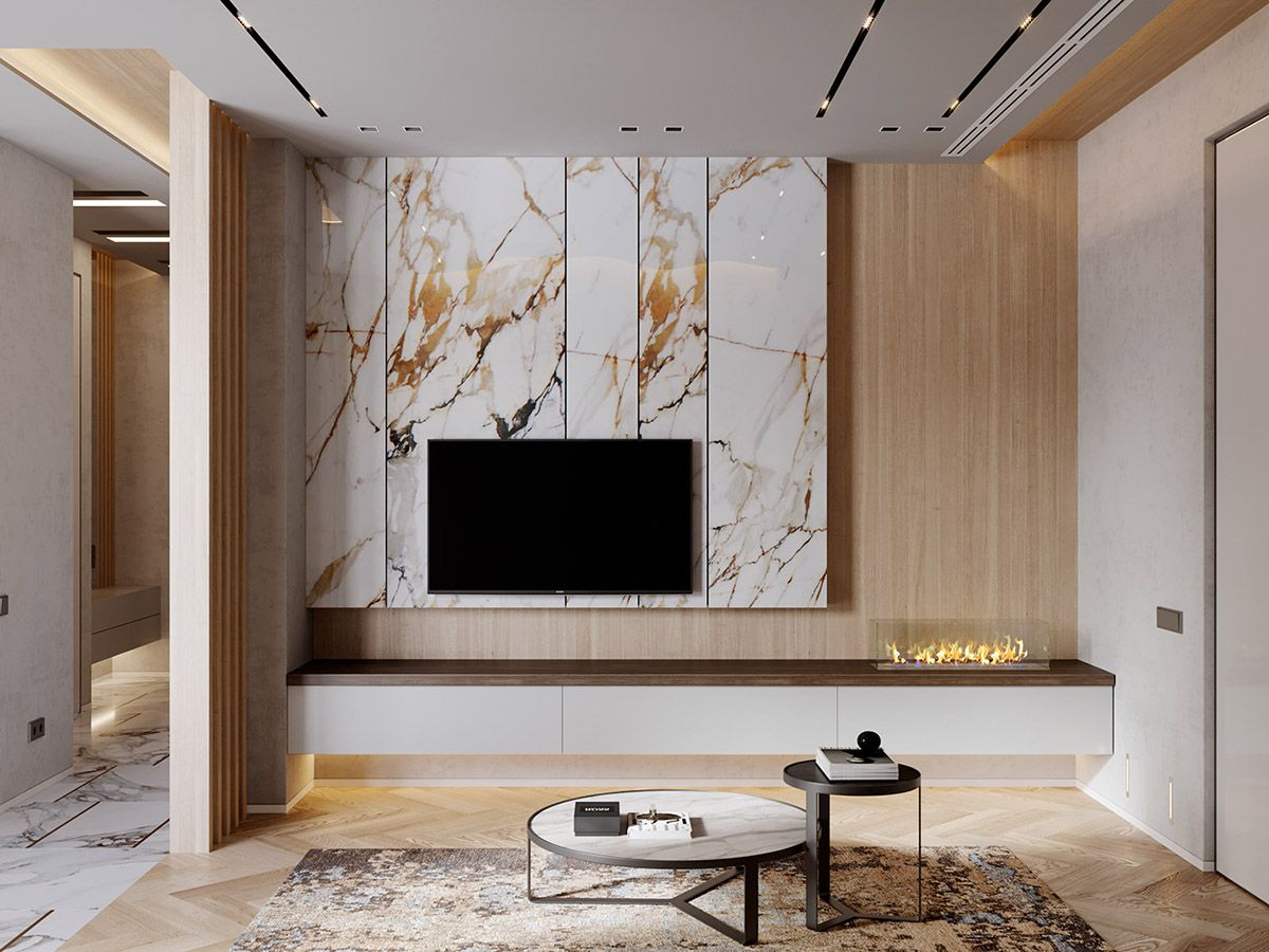Lighter toned woods for interior design