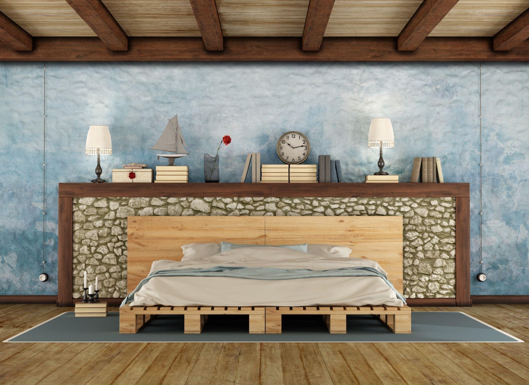color palette for rustic bedroom